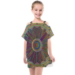 Mandala Decorative Ornamental Kids  One Piece Chiffon Dress by Pakrebo