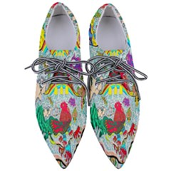 Supersonic Key West Gypsy Blast Pointed Oxford Shoes by chellerayartisans