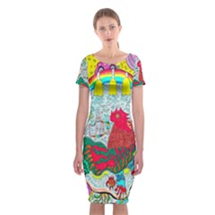 Supersonic Key West Gypsy Blast Classic Short Sleeve Midi Dress