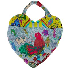 Supersonic Key West Gypsy Blast Giant Heart Shaped Tote