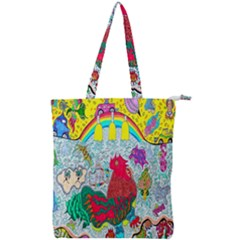 Supersonic Key West Gypsy Blast Double Zip Up Tote Bag