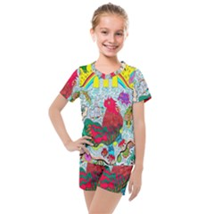 Supersonic Key West Gypsy Blast Kids  Mesh Tee And Shorts Set