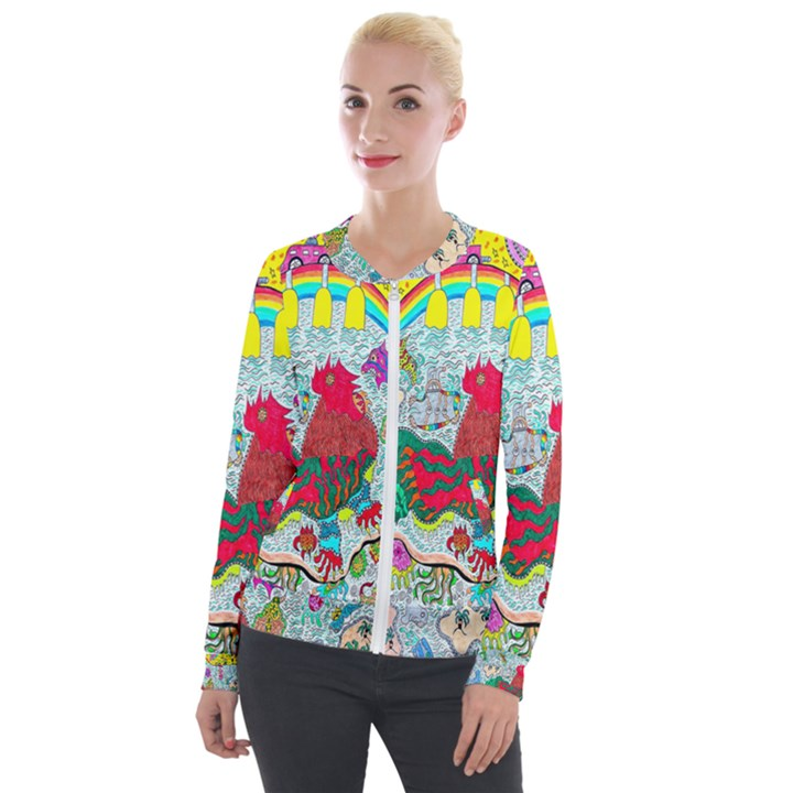 Supersonic Key West Gypsy Blast Velour Zip Up Jacket