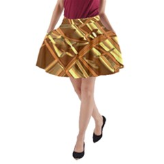 Gold Background A-line Pocket Skirt