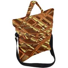Gold Background Fold Over Handle Tote Bag by Alisyart