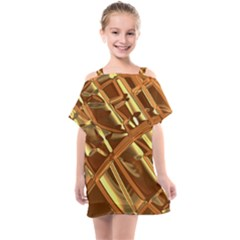 Gold Background Kids  One Piece Chiffon Dress by Alisyart