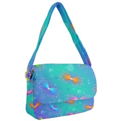 Non Seamless Pattern Blues Bright Courier Bag