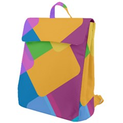 Geometry Nothing Color Flap Top Backpack by Mariart