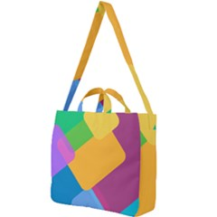 Geometry Nothing Color Square Shoulder Tote Bag by Mariart