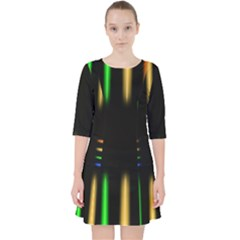 Neon Light Abstract Pattern Pocket Dress