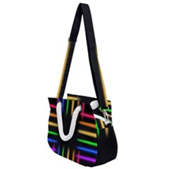 Neon Light Abstract Pattern Rope Handles Shoulder Strap Bag by Mariart