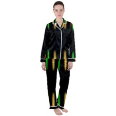 Neon Light Abstract Pattern Satin Long Sleeve Pyjamas Set by Mariart