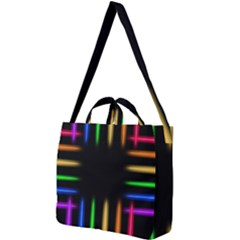 Neon Light Abstract Pattern Square Shoulder Tote Bag by Mariart