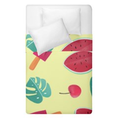 Watermelon Leaves Strawberry Duvet Cover Double Side (single Size) by HermanTelo