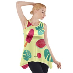 Watermelon Leaves Strawberry Side Drop Tank Tunic by HermanTelo