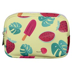Watermelon Leaves Strawberry Make Up Pouch (small)