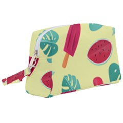 Watermelon Leaves Strawberry Wristlet Pouch Bag (large) by HermanTelo