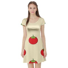 Fresh Tomato Short Sleeve Skater Dress