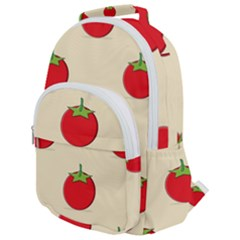 Fresh Tomato Rounded Multi Pocket Backpack