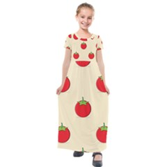 Fresh Tomato Kids  Short Sleeve Maxi Dress by HermanTelo