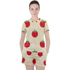Fresh Tomato Women s Tee And Shorts Set by HermanTelo