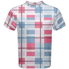Fabric Textile Plaid Men s Cotton Tee
