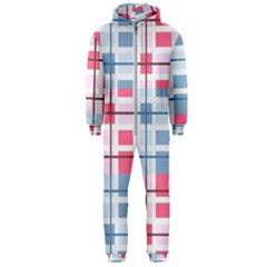 Fabric Textile Plaid Hooded Jumpsuit (men)  by HermanTelo