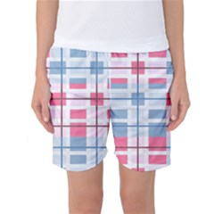 Fabric Textile Plaid Women s Basketball Shorts