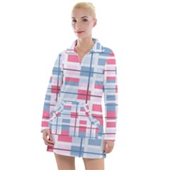 Fabric Textile Plaid Women s Long Sleeve Casual Dress