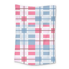 Fabric Textile Plaid Small Tapestry by HermanTelo