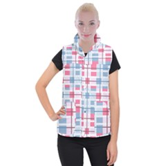Fabric Textile Plaid Women s Button Up Vest by HermanTelo