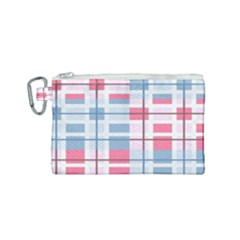 Fabric Textile Plaid Canvas Cosmetic Bag (small) by HermanTelo
