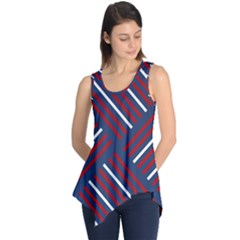 Geometric Background Stripes Sleeveless Tunic