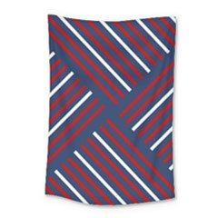 Geometric Background Stripes Small Tapestry by HermanTelo
