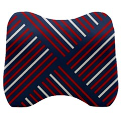 Geometric Background Stripes Velour Head Support Cushion