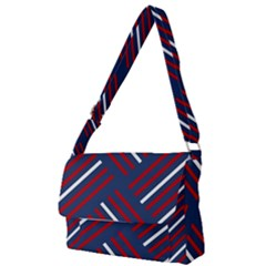Geometric Background Stripes Full Print Messenger Bag by HermanTelo