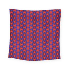 Blue Pattern Texture Square Tapestry (small) by HermanTelo