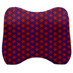 Blue Pattern Texture Velour Head Support Cushion
