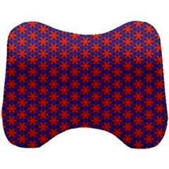Blue Pattern Texture Head Support Cushion by HermanTelo