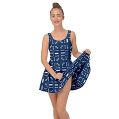 Background Blue Inside Out Casual Dress