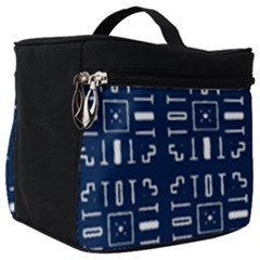Background Blue Make Up Travel Bag (big)
