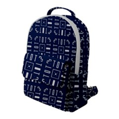 Background Blue Flap Pocket Backpack (large)