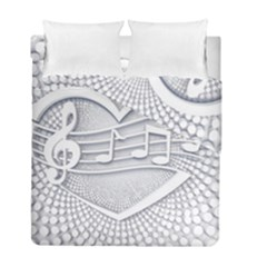 Circle Music Duvet Cover Double Side (full/ Double Size)