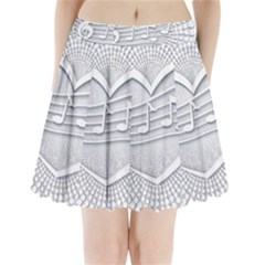 Circle Music Pleated Mini Skirt by HermanTelo