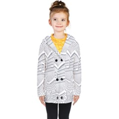 Circle Music Kids  Double Breasted Button Coat