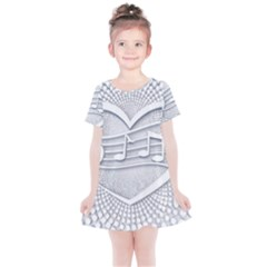 Circle Music Kids  Simple Cotton Dress by HermanTelo
