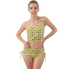 Background Yellow Mini Tank Bikini Set