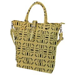 Background Yellow Buckle Top Tote Bag