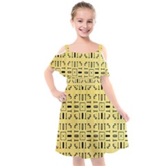 Background Yellow Kids  Cut Out Shoulders Chiffon Dress by HermanTelo