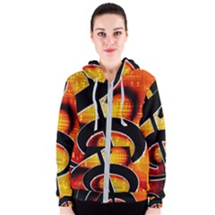 Clef Music Lines Notenblatt Women s Zipper Hoodie